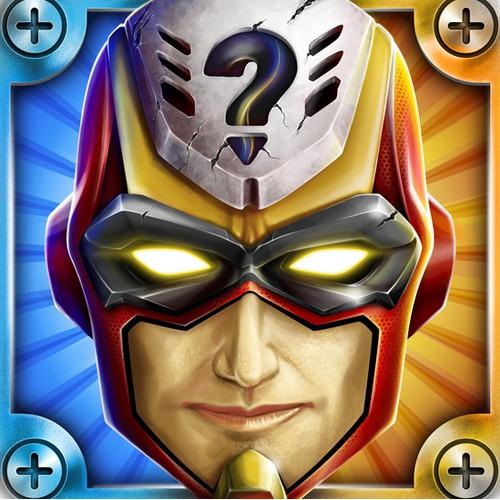 Super-Hero icon or button design for AppDeli