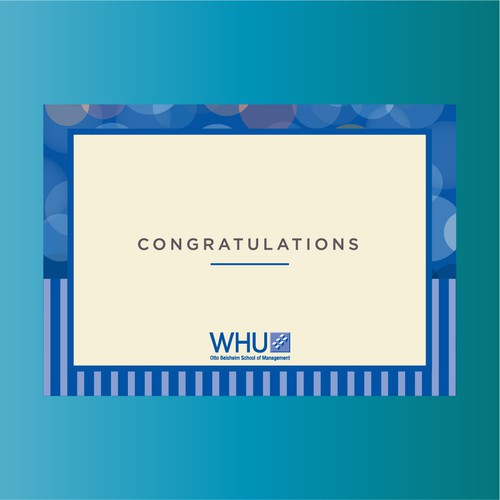 Design a collection of greeting cards for WHU - Otto Beisheim School of Management