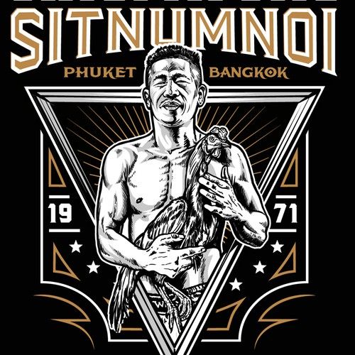 T_shirt Design for Muay Thai school