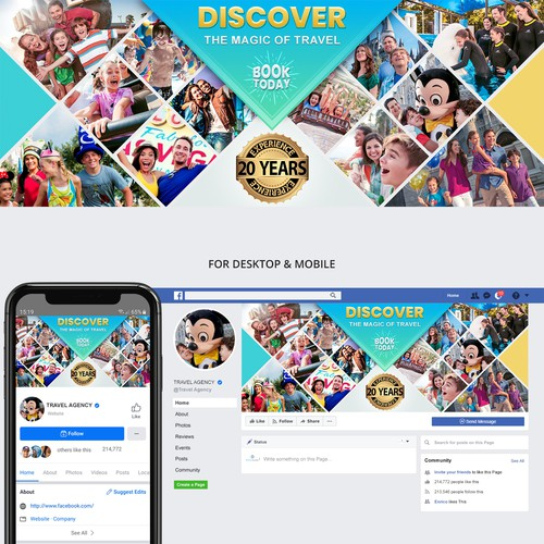 Vibrant facebook cover