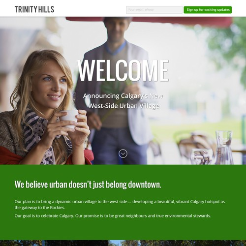 Trinity Hills Landing Page