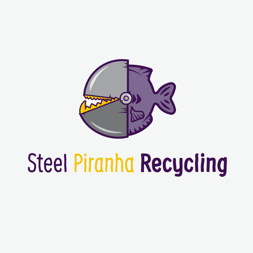 Fun logo for Steel Piranha Recycling