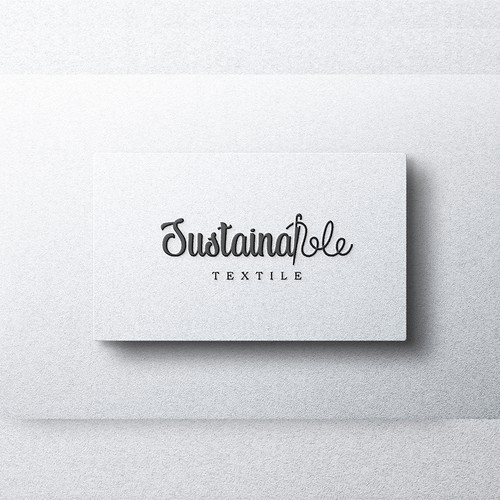 Lettering logo design for Sustainable textiles.