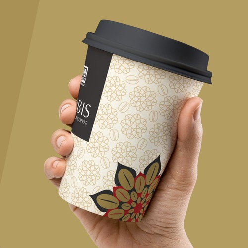 Coffee cup design for Orbis Food