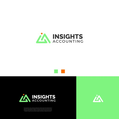 Modern logo for Insights Accounting