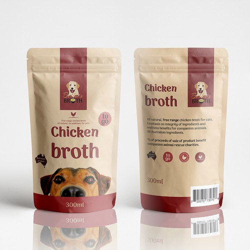 Retro minimalistic packaging for Chicken Broth