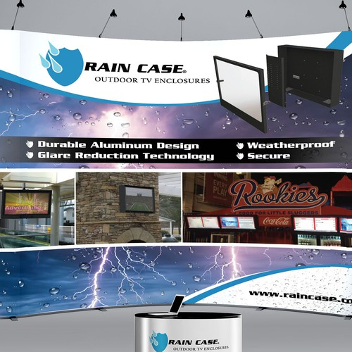 Create an exciting trade show banner for Rain Case!