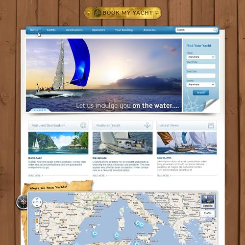 Book My Yacht needs a logo and website design