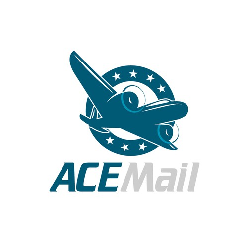 logo with a vintage feel for Ace Mail
