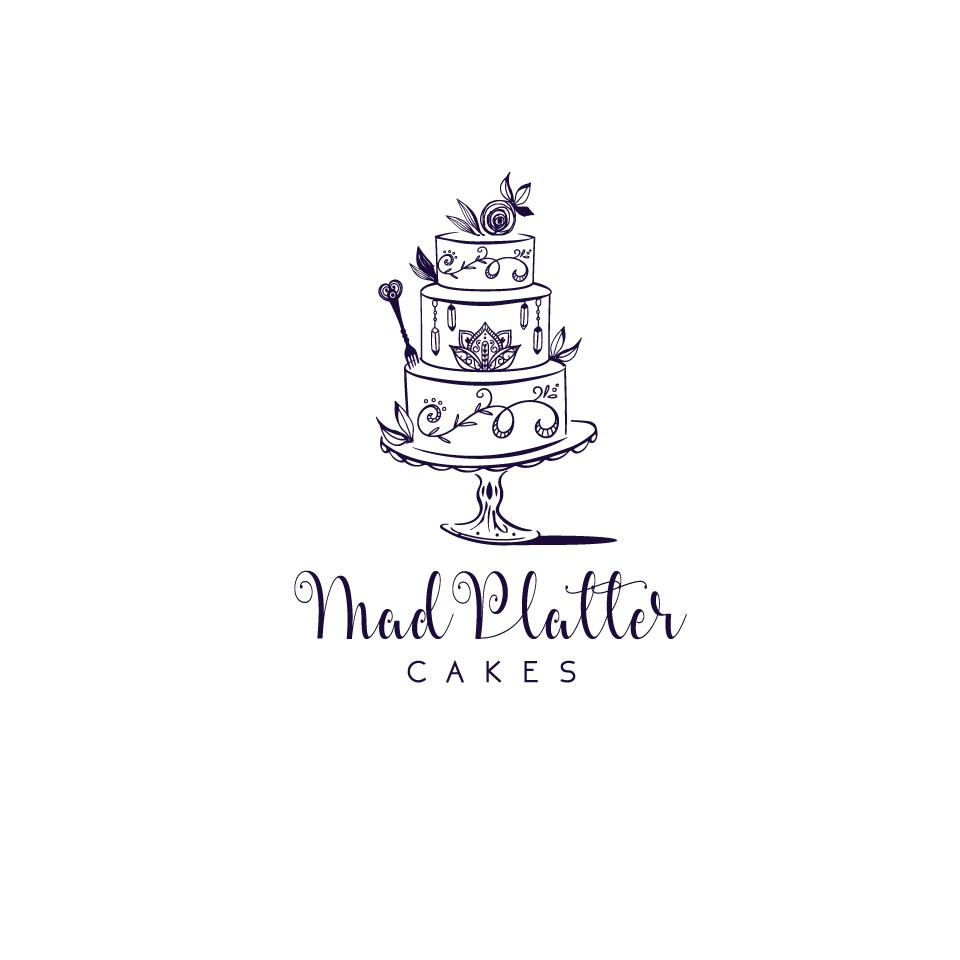 Get funky with a Mad Platter Cakes logo