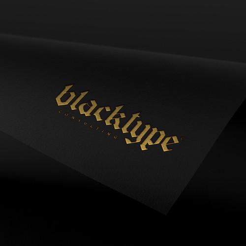 Bold Logo for Black Type Consulting