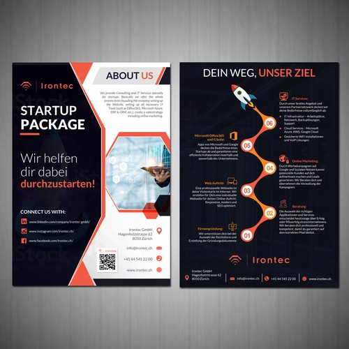 FLYER for STARTUP Consulting & IT Services COMPANY!!