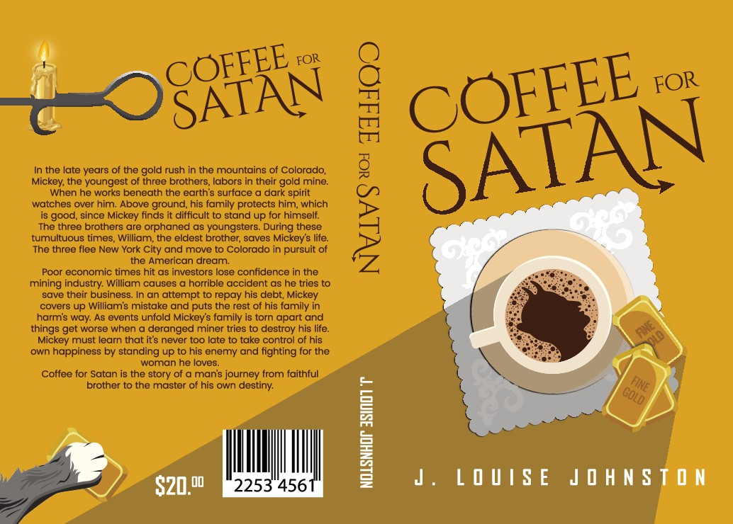 Create a book cover for Coffee for Satan