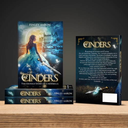 Book cover design for Finley Aaron-Cinders