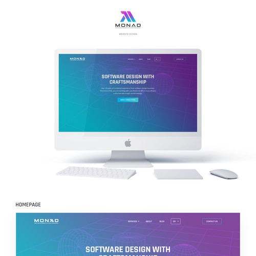 New website design for software development craftsmen