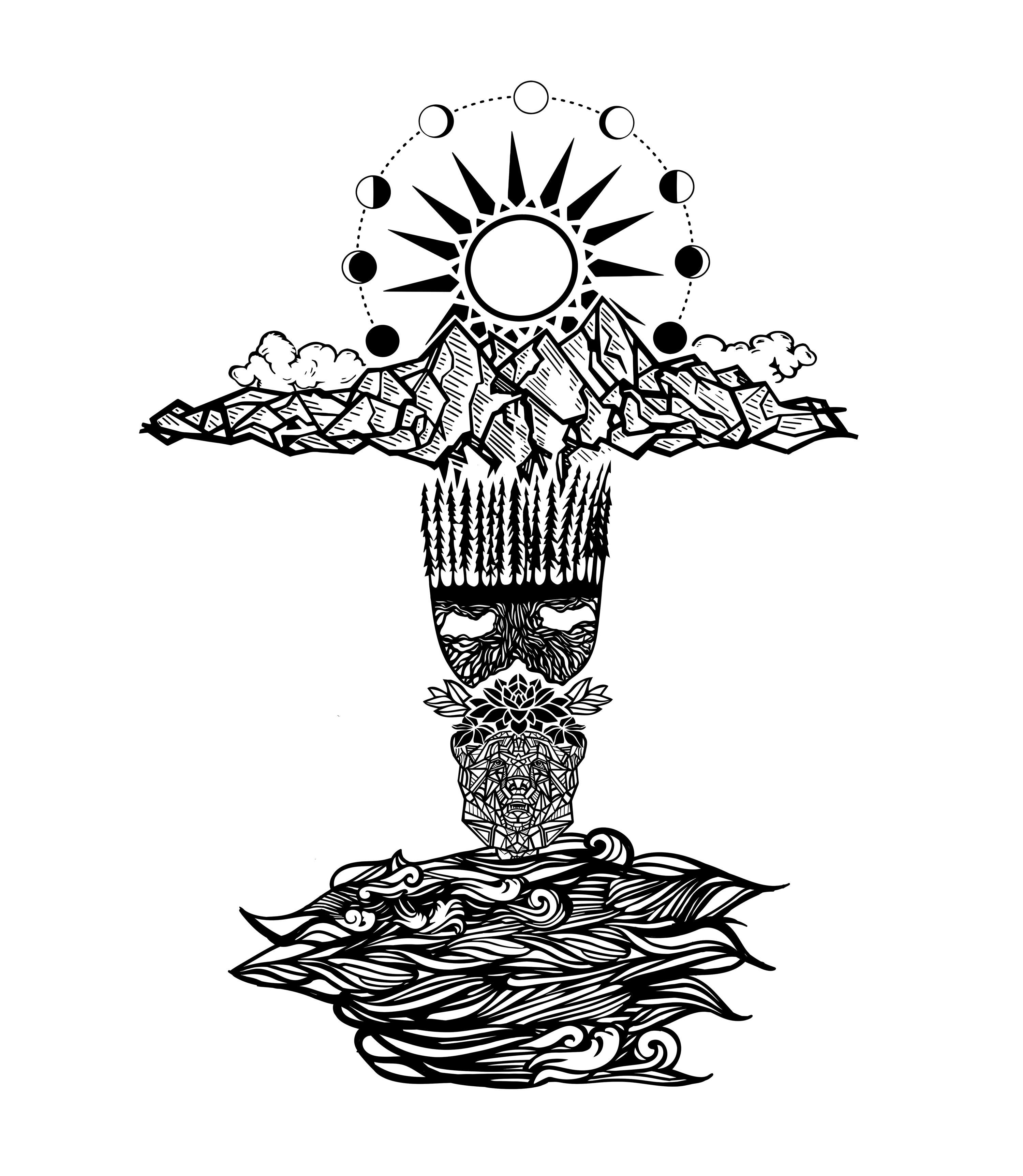 Finish Tattoo Sleeve - Nature, Minimalist