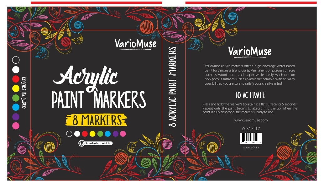 Design package for VarioMuse acrylic marker set