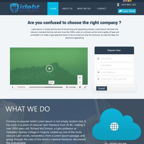 iDebt needs a new landing page