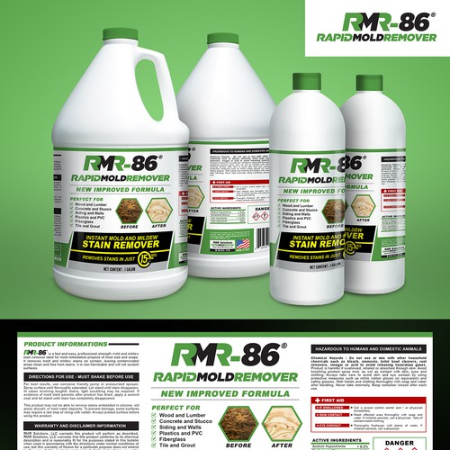 RMR Rapid Mold Remover Product Packaging Design 2016