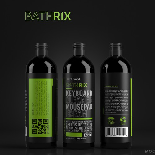 Packaging design for keyboard / mouse cleaner