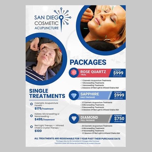 San Diego Cosmetic Acupuncture Menu Design