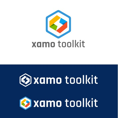 A simple POP logo that convey speed, innovation, and quality for Xamo Toolkit