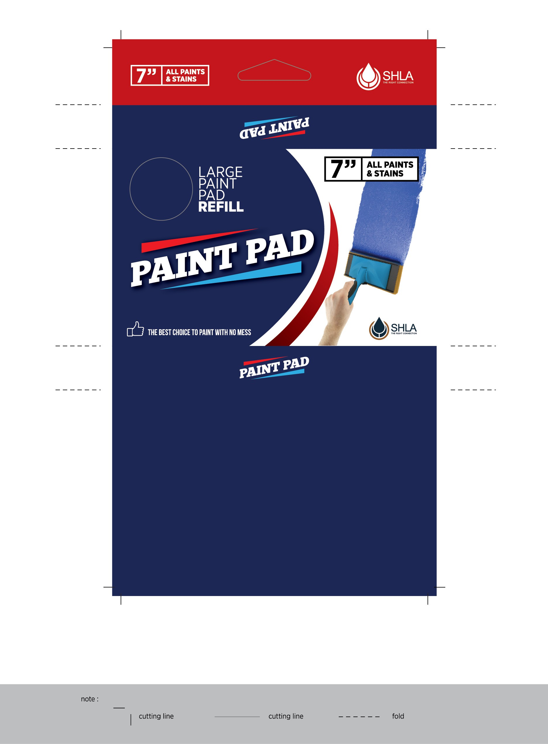 Create Packaging for a full line of Paint Pads that will be seen everywhere.