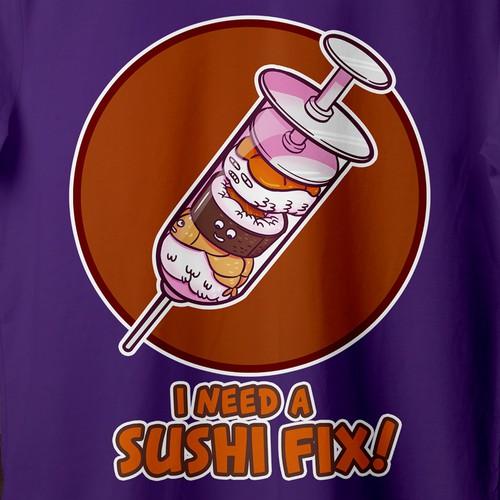 Illustration for Sushi T-shirt