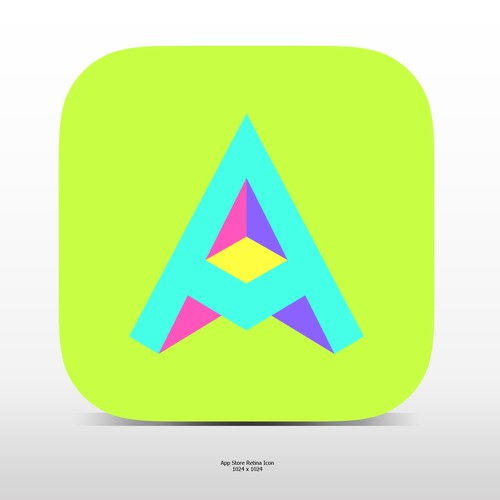 """Fun """"3d""""ish Letter A Icon For A Social Video App"""