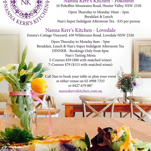 Nanna Kerr's Kitchen Full page advert