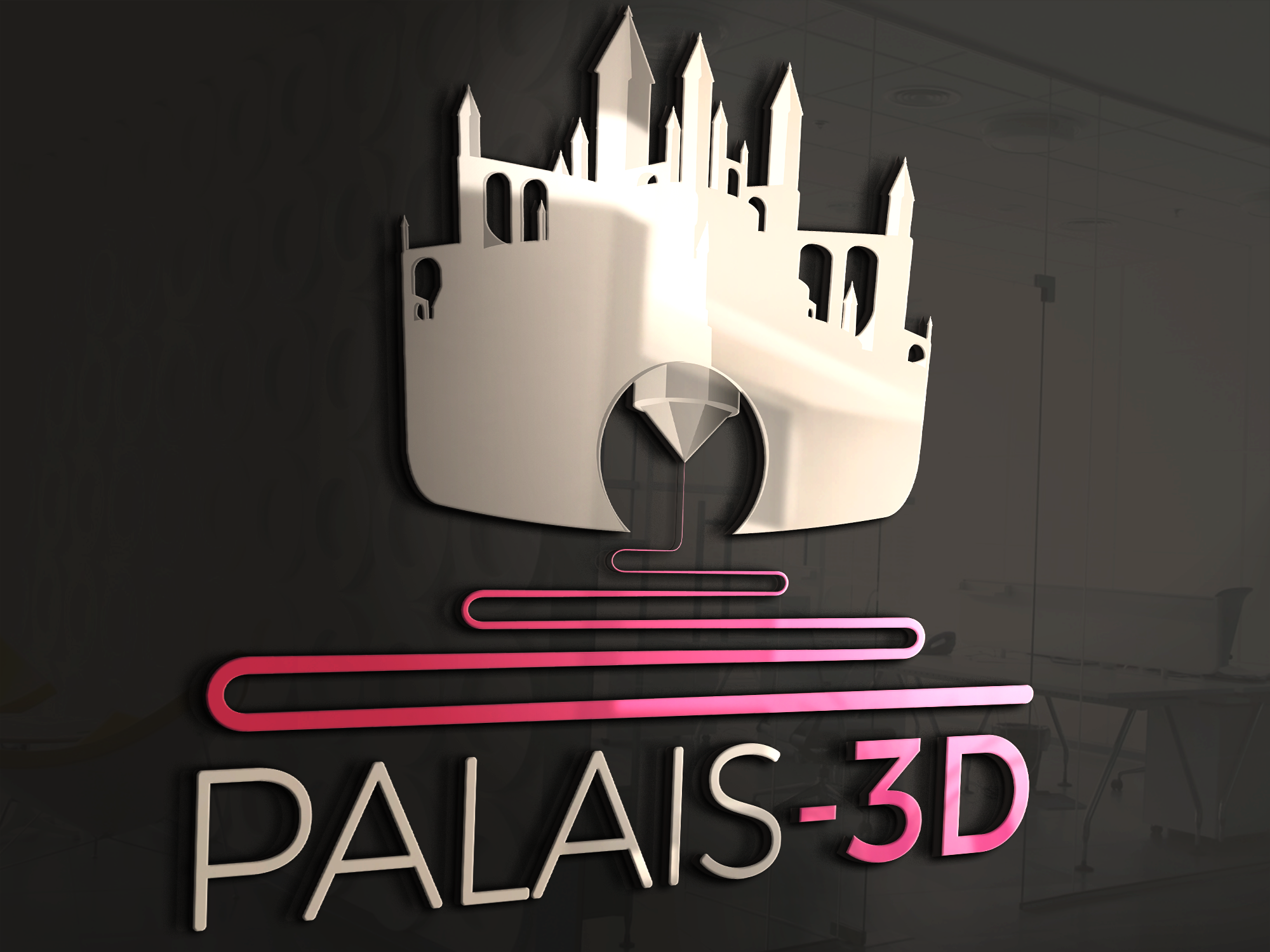 """Combine 3d printing with a palace for the brand """"palais-3d"""""""