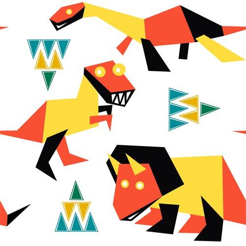 Dinosaurus Seamless Pattern