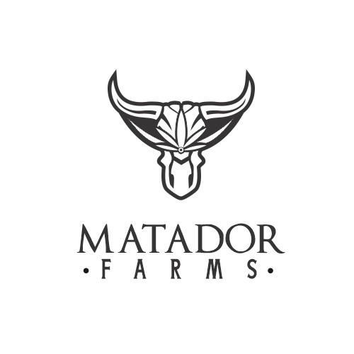 logo design for matador farms.