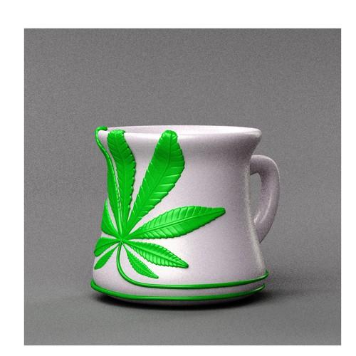 3D Cannabis Mug