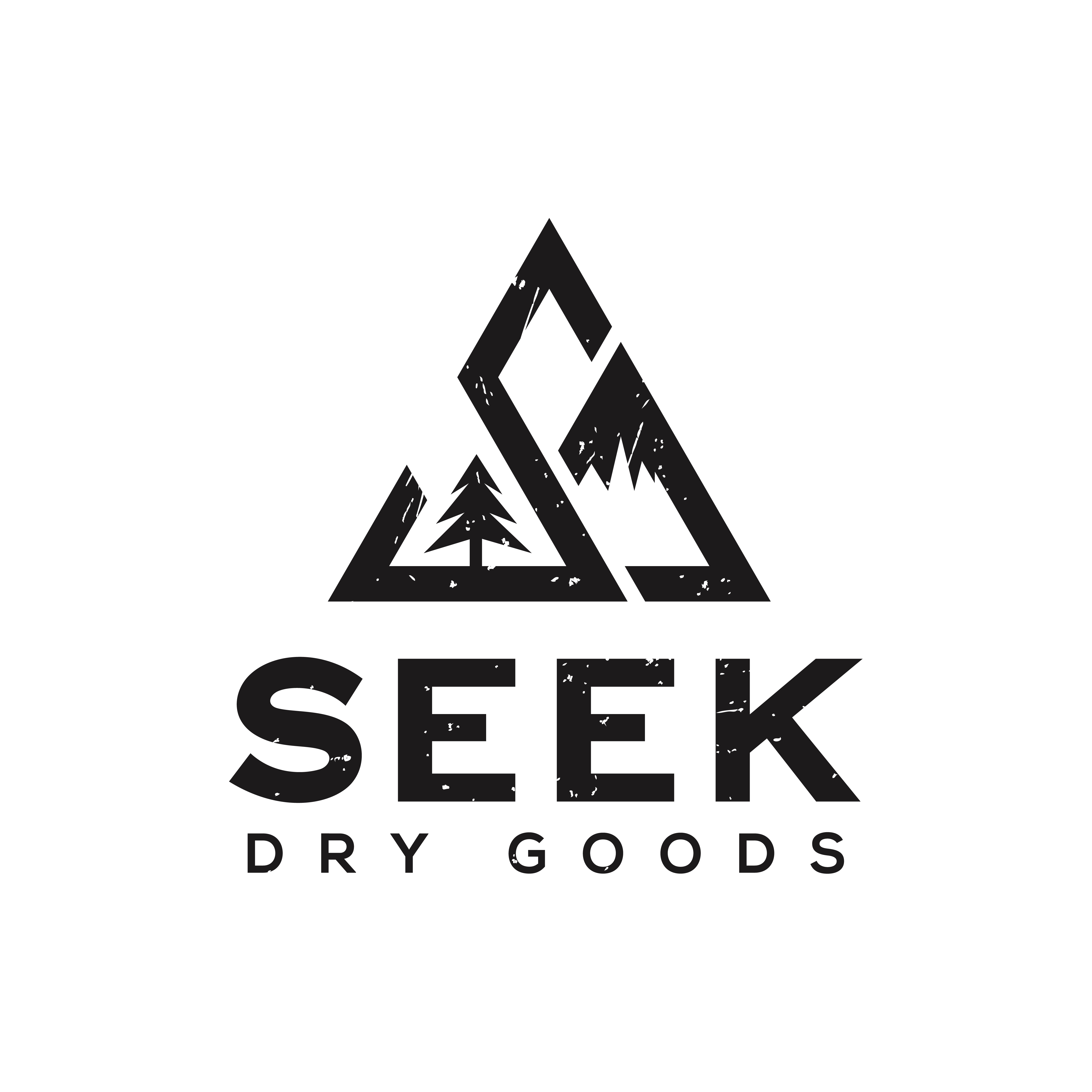 Design an iconic logo for outdoor lifestyle brand Seek Dry Goods