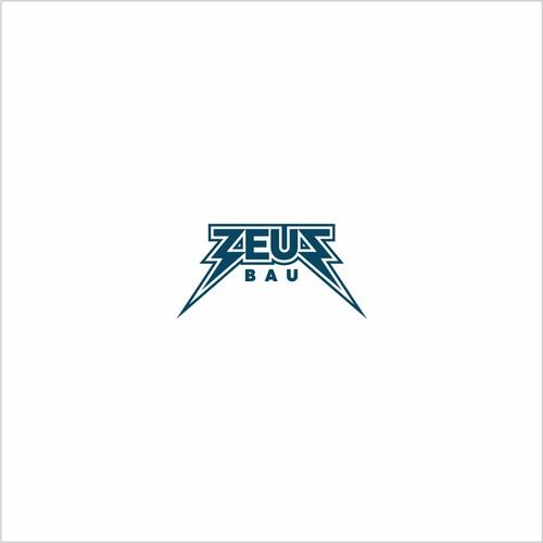 logo for a construction company called ZEUS
