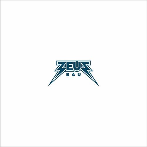 logo for a construction company called ZEUS