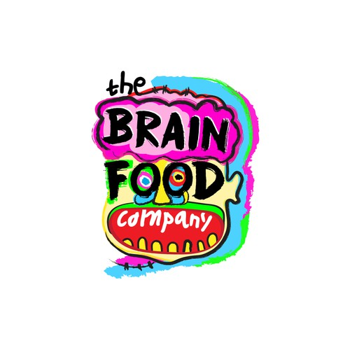 Abstract Neo-Expressionist Logo For Brain Supplement Company