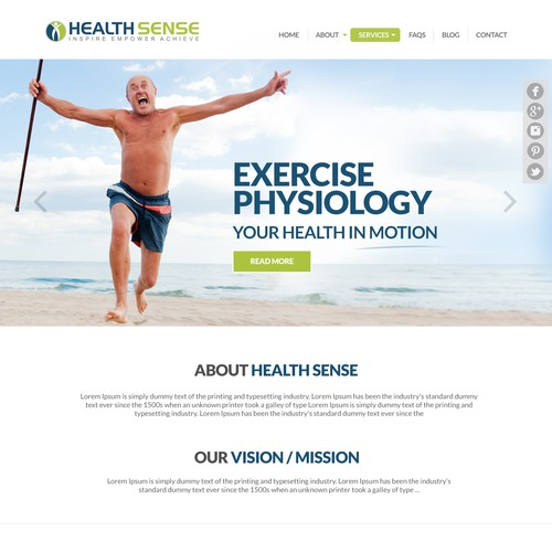 Create a simple, easy to navigate website for a small injury rehab,health management company