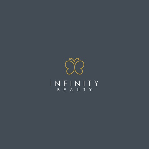 Elegant, clean and original design for our modern medicine-cosmetic beauty salon Infinity Beauty