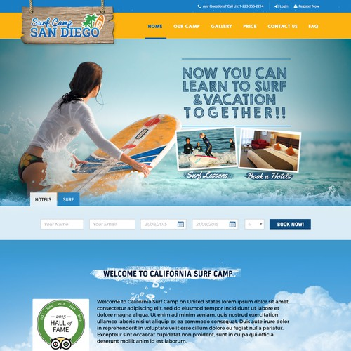 Flowing Design for Surf Camp California
