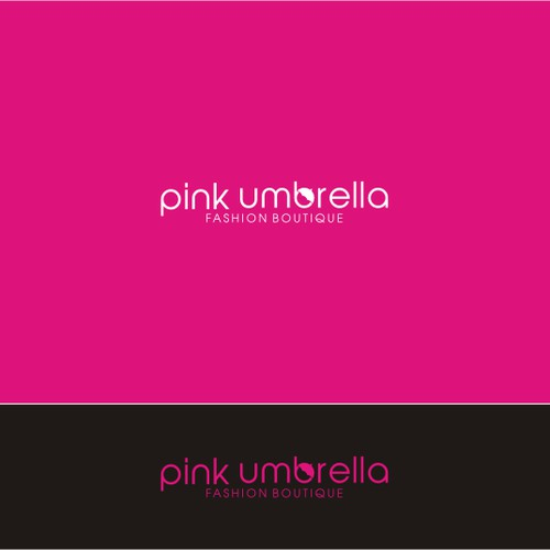 a simple elegant fashion logo for Pink Umbrella Fashion Boutique