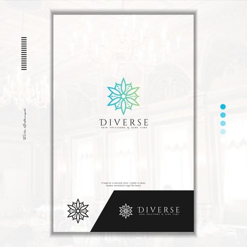 Diverse Skin Solutions & Acne Care Logo Concept