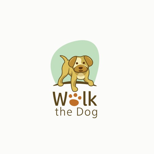 cute design for dog walk company