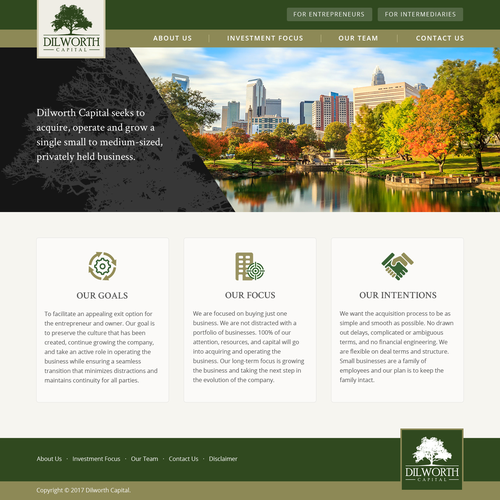 Dilworth Capital Website Redesign