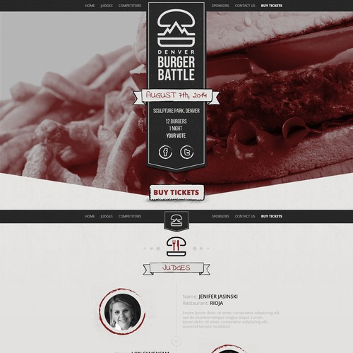 Create a website for a Food Event