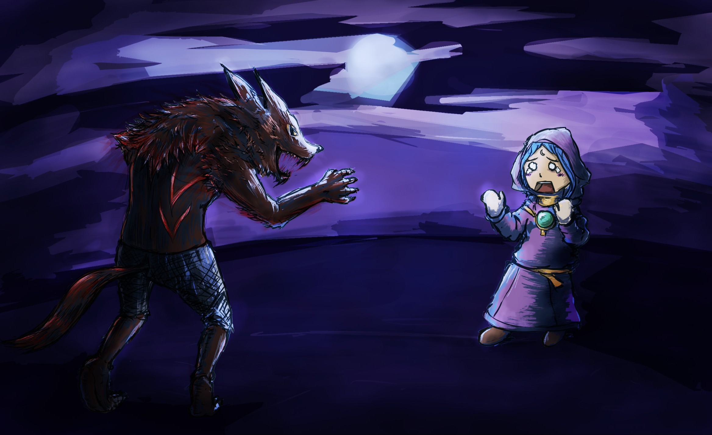 Design a beautiful illustration for our werewolf games!