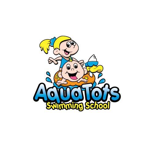 Create a winning logo for Aqua Tots Swimming School