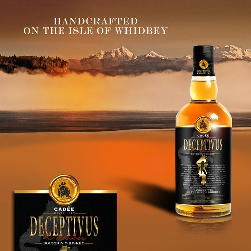 DECEPTIVUS - Label Whiskey - bottle packaging