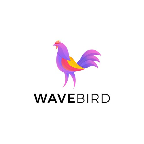 Colorful and Energetic Rooster Logo